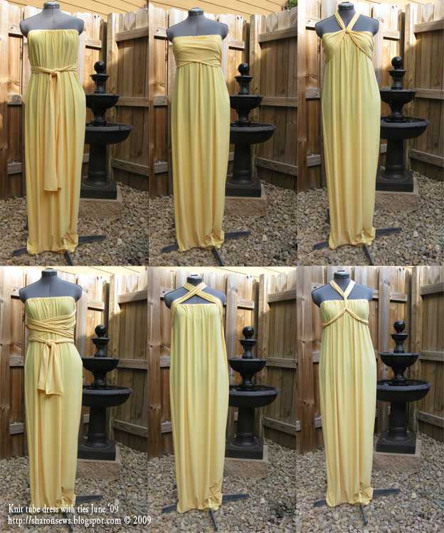 Golden goddess gown - a side tie infinity dress that is smokin' hot