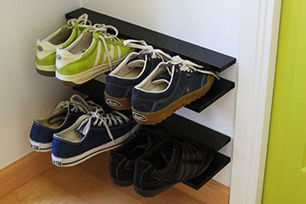 Make a floating shoe rack.