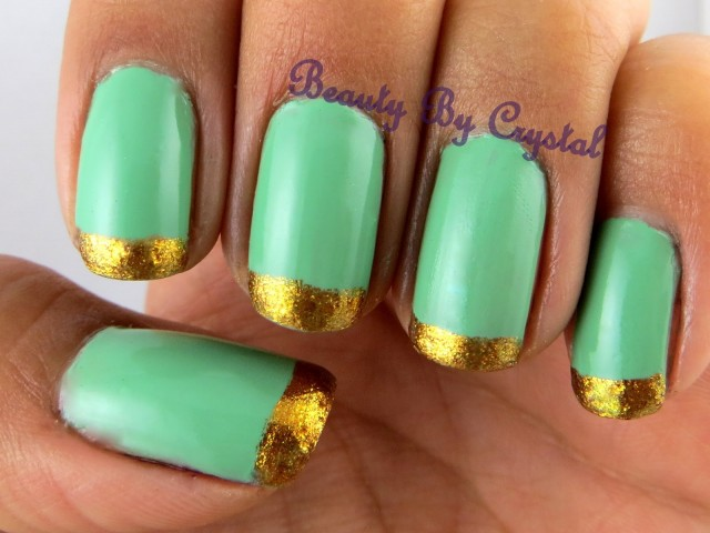 Nails With Golden Designs (21)