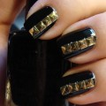 Nails With Golden Designs (37)