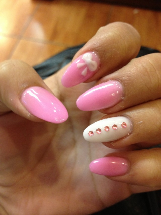 Nails with bows (11)