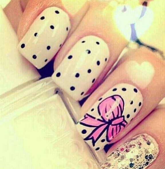 Nails with bows (6)