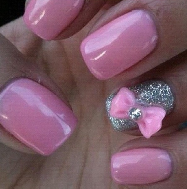 Nails with bows (9)