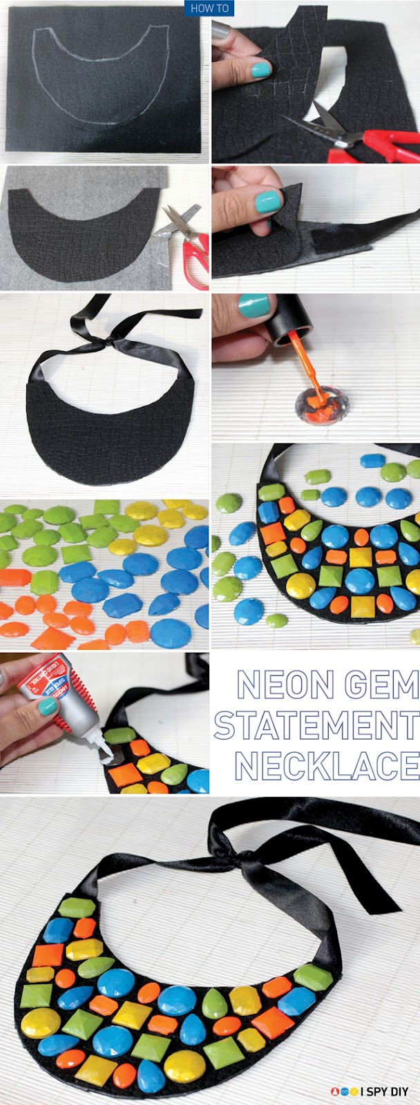 Neon Gem Necklace