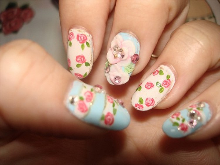 34 Beautiful Pastel Nail Designs With Flowers