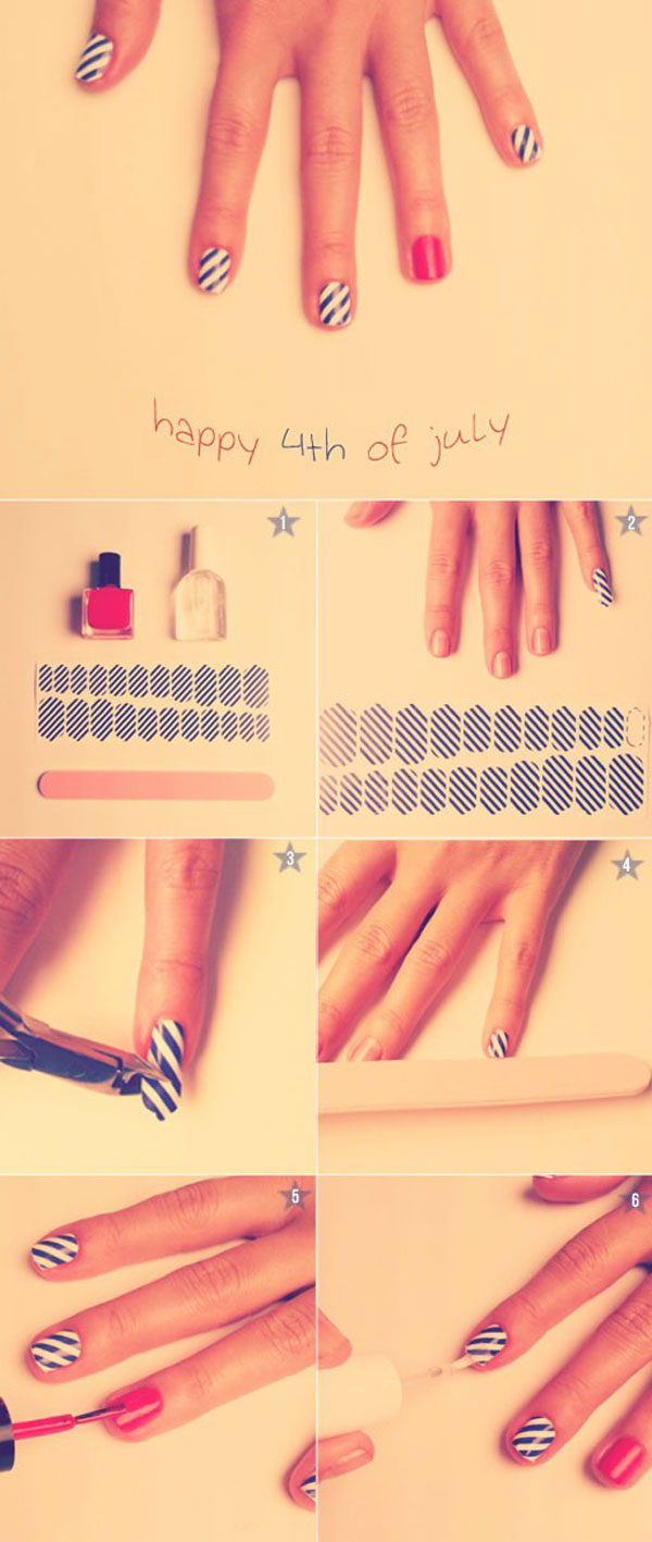 Easy Diy Fourth Of July Nails Papillon Day Spa