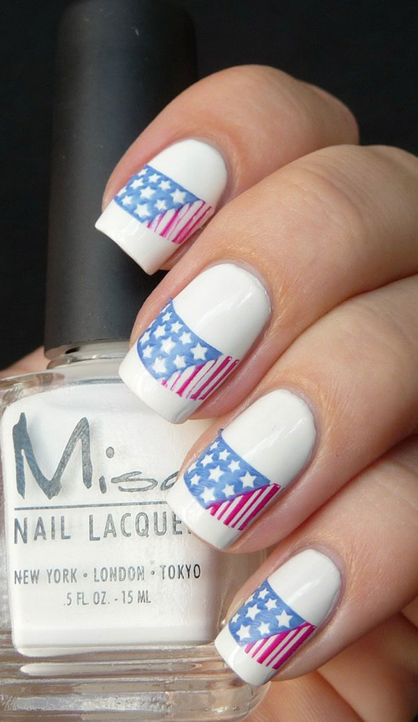 July 4 nail art design ledufa impressive july 4 nail art design 28 almost inspiration article prinsesfo Choice Image
