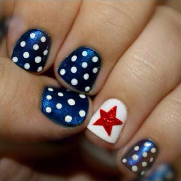 Easy 4th of july nail ideas
