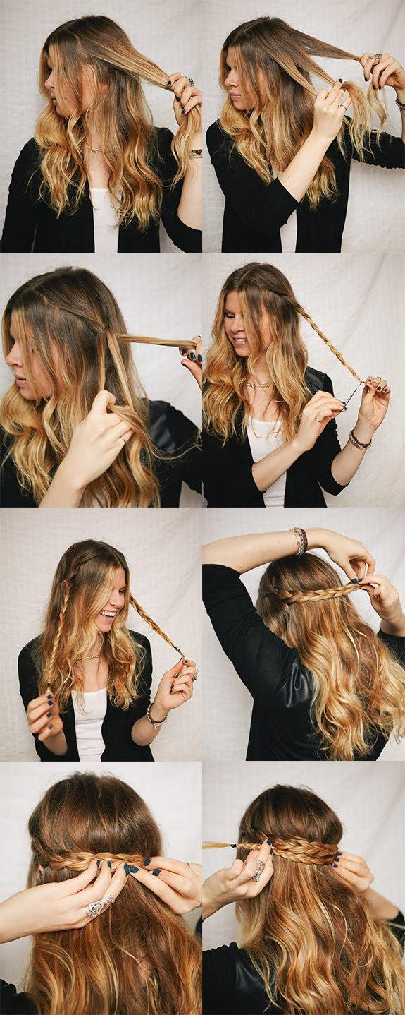 11 interesting and useful hair tutorials for every day diy half up braided crown hairstyle solutioingenieria Images