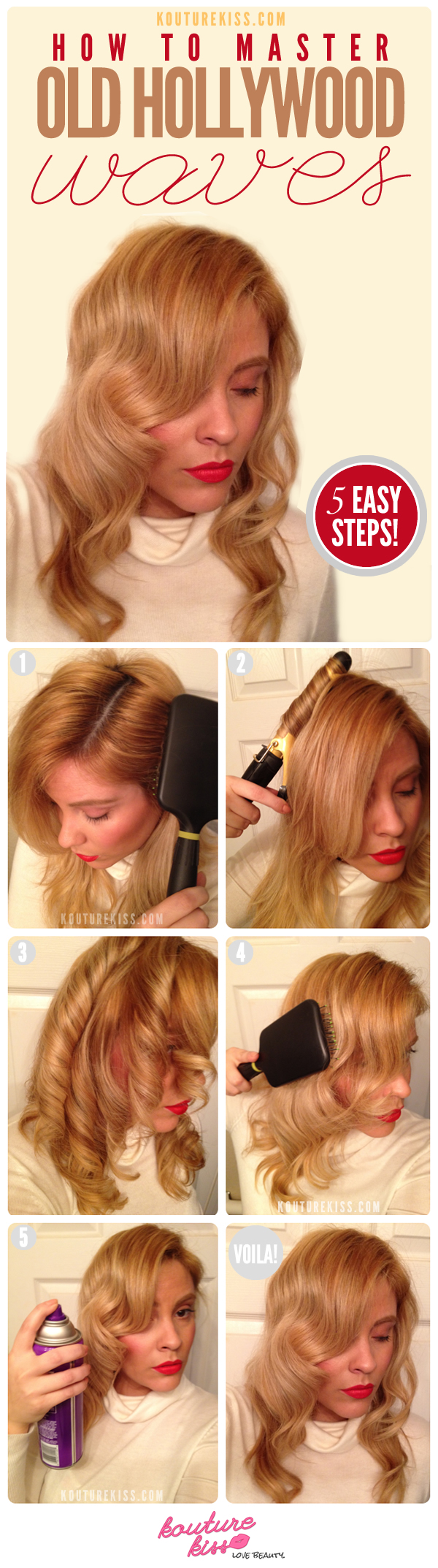 11 interesting and useful hair tutorials for every day diy old hollywood waves hairstyle solutioingenieria Images