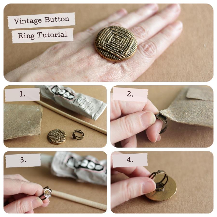 أفكار لصنع ألأكسسوارات ,أفكار مميزة وجميله ,جديد 2014 The-Button-Ring.jpg