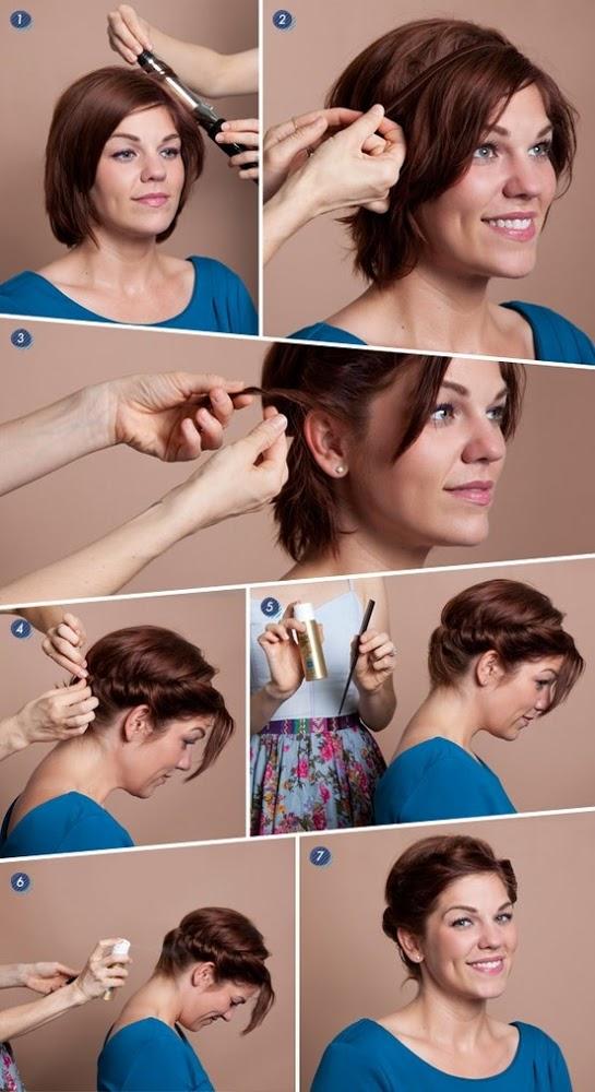 Прическа своими руками для коротких волос на