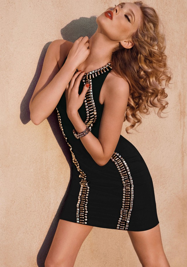 Racerback Embellished Dress
