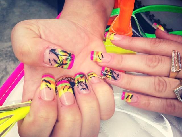 Sunset-nails - 20 Sunset Nail Design Ideas