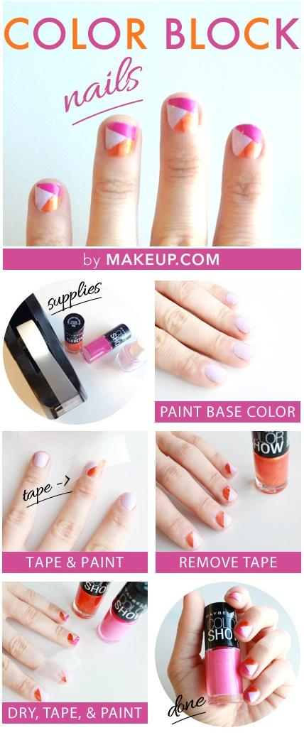 15 DIY Nail Tutorials With Scotch Tape - Fashion Diva Design
