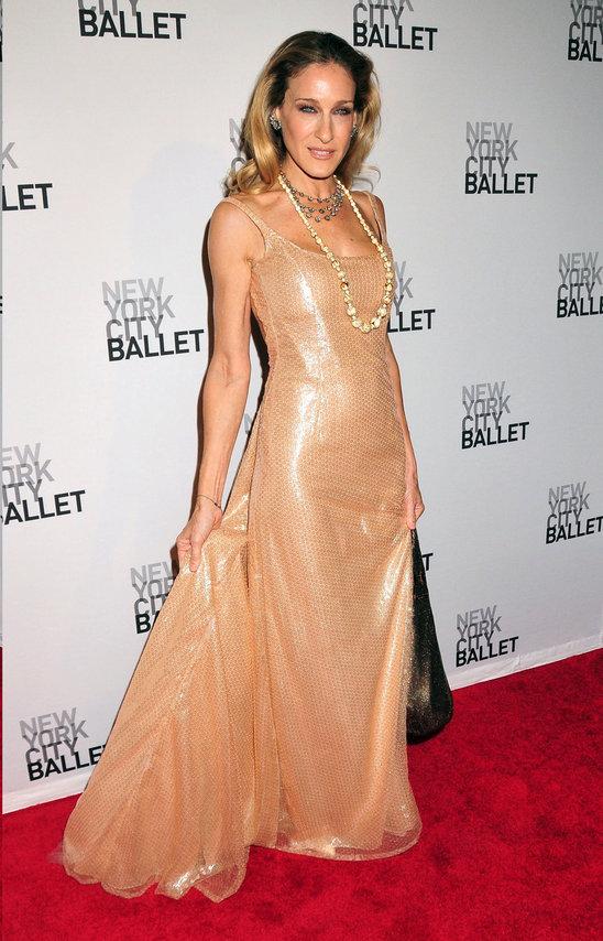 Beige-Sarah-Jessica-Parker-Dress