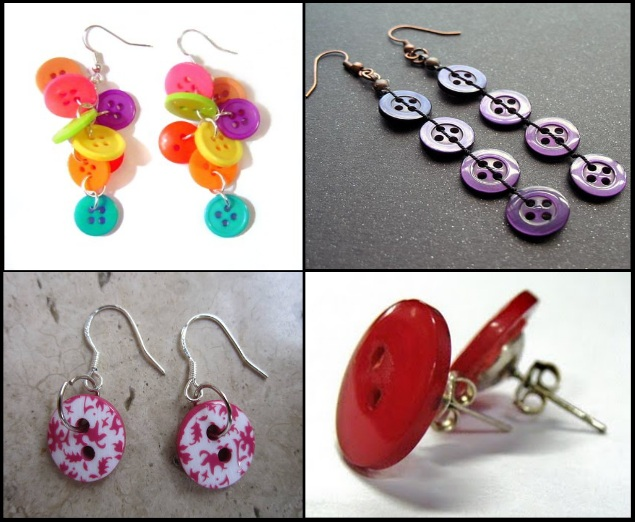 Creative-Accessories-With-Buttons-Earings