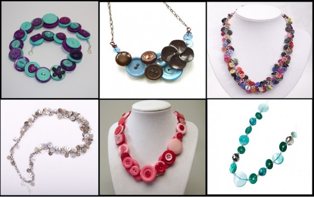 Creative-Accessories-With-Buttons-necklaces