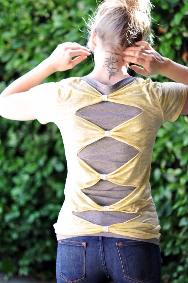 Cutout Back Tshirt DIY