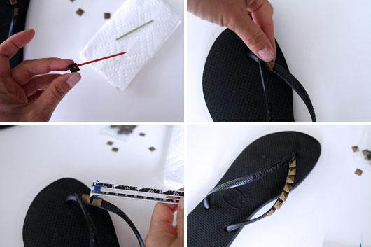 DIY-Studded-Flip-Flops