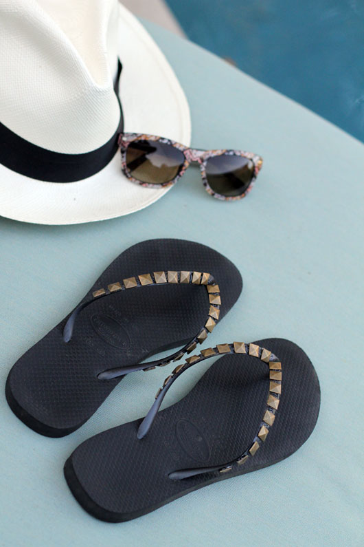 Diy studded flip flops1