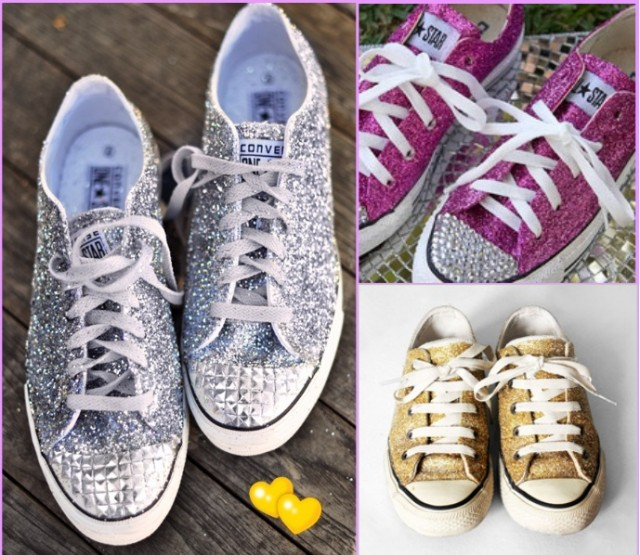 Diy-Converse-applying-glitter
