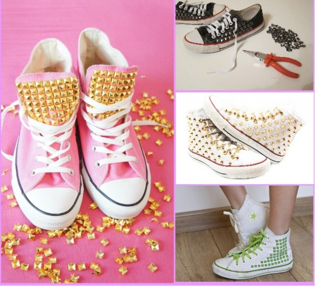 Diy-Converse-applying-rivets
