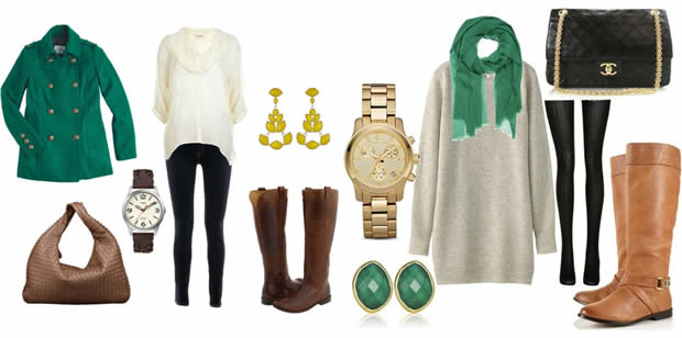 Emerald green - the color of this winter