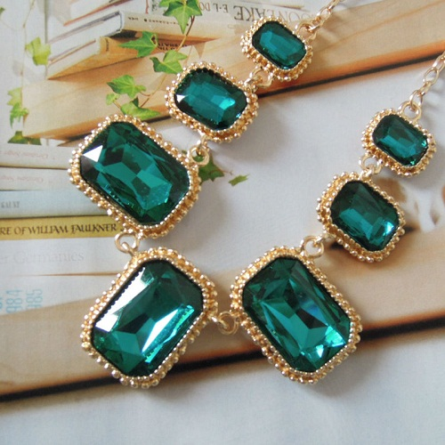 Neon-yellow-Green-Zircon-Sapphire-font-b-Emerald-b-font-Necklace-Exaggerated-Prom-jewelry-set-Womens