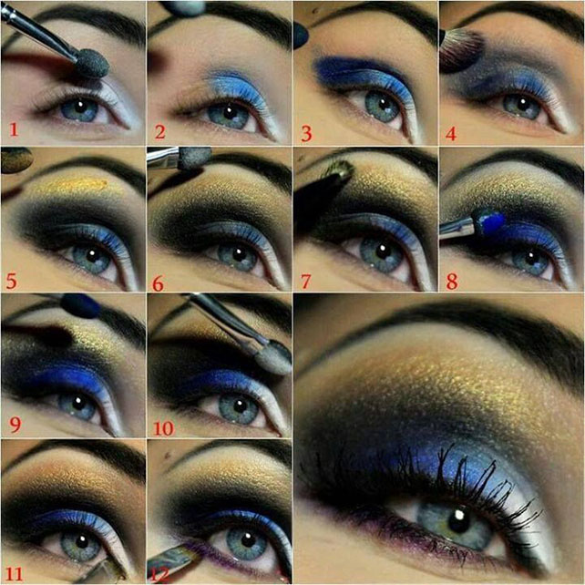 Night-Blue-Eye-Makeup-Tutorial
