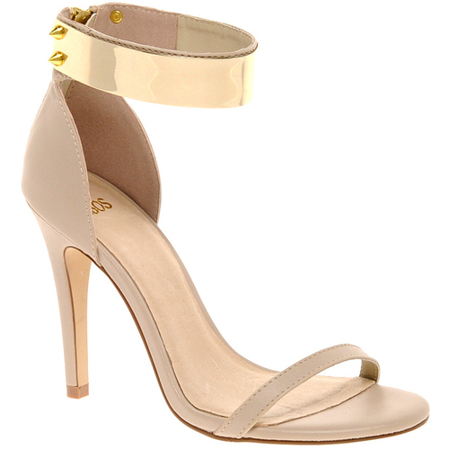 Sandały damskie ASOS HONG KONG Heeled Sandals with Metal Trim 265620
