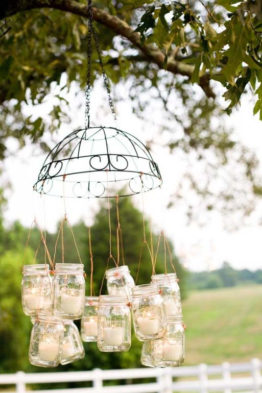 Diy Outdoor Chandelier Wire Baskets