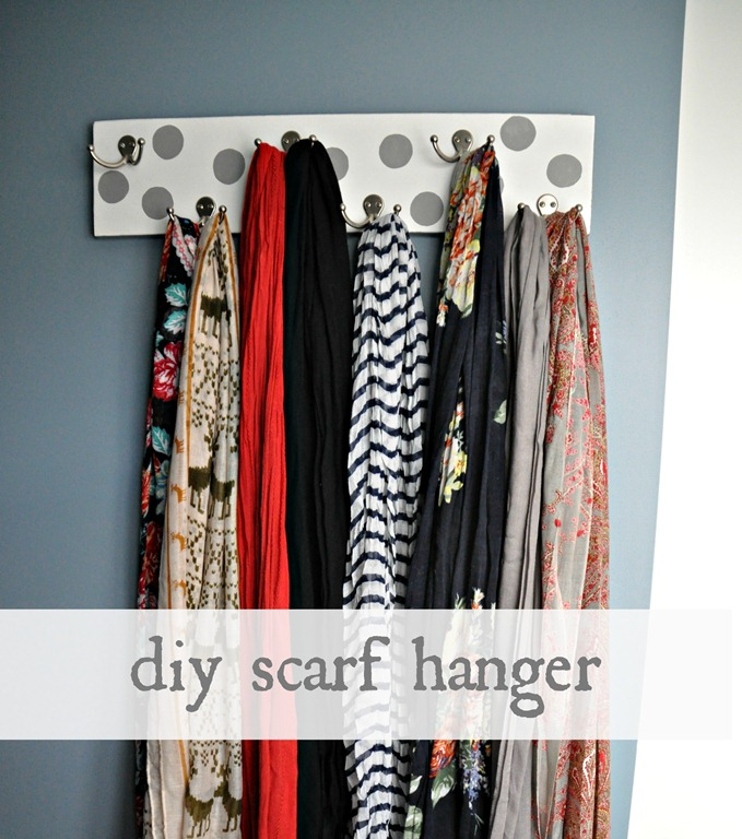 how to make a scarf holder