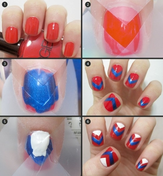 15 DIY Nail Tutorials With Scotch Tape