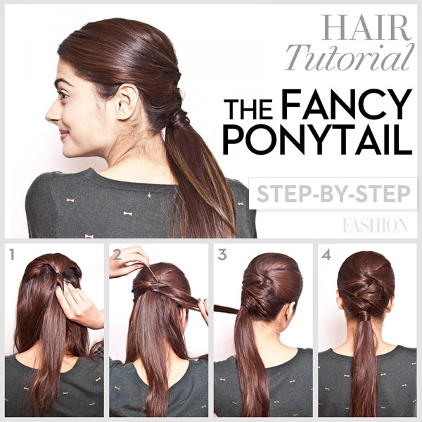 Hairstyle Tutorials knotted braided hairstyle tutorial Prom Hair Tutorial Fancy Ponytail 600x600