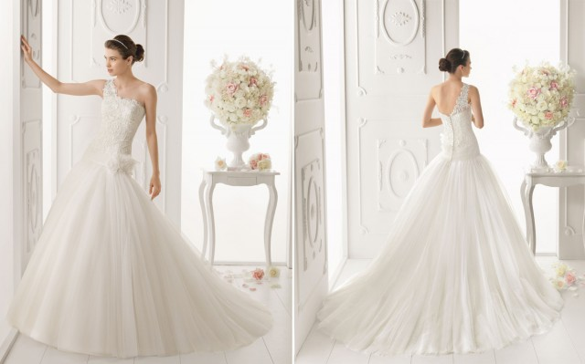 2014-Guipure-and-tulle-bridal-dress-with-flower