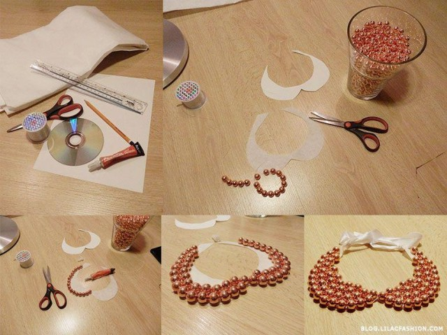 21 diy collar necklace ideas do it yourself tutorials 611 solutioingenieria Gallery