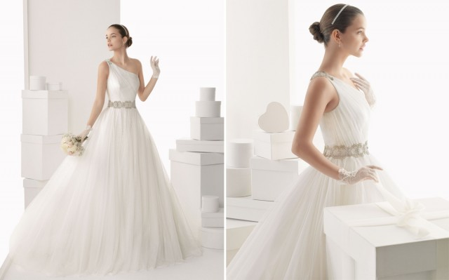 Rosa-Clara-2014-One-shoulder-Tulle-Bridal-Ball-Gown