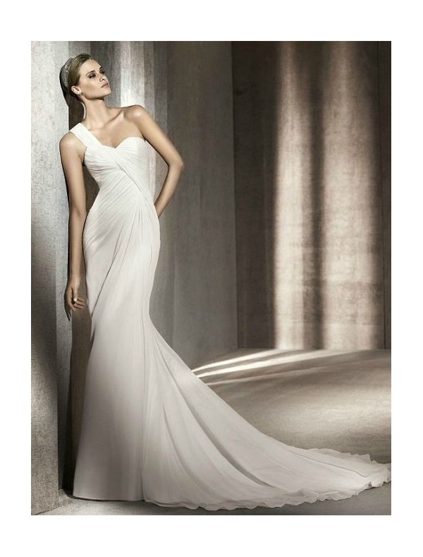 chiffon-sweetheart-one-shoulder-strap-neckline-slim-a-line-style-with-asymmetrically-gathered-bodice