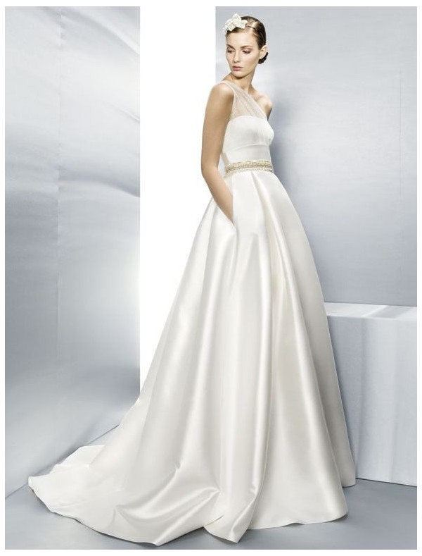 satin-one-shoulder-a-line-wedding-dress-with-gold-waistband