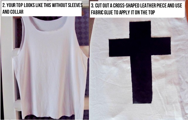 DIY BLACK AND WHITE PUNK TOP (3)