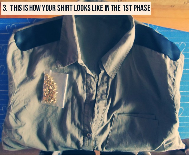 DIY MILITARY CHIC SHIRT