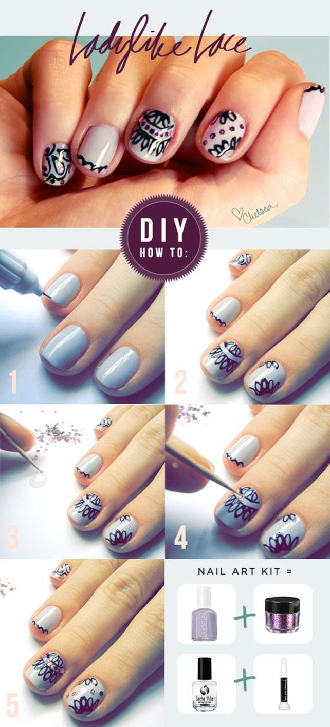 Lady Lace Nail Art Tutorial