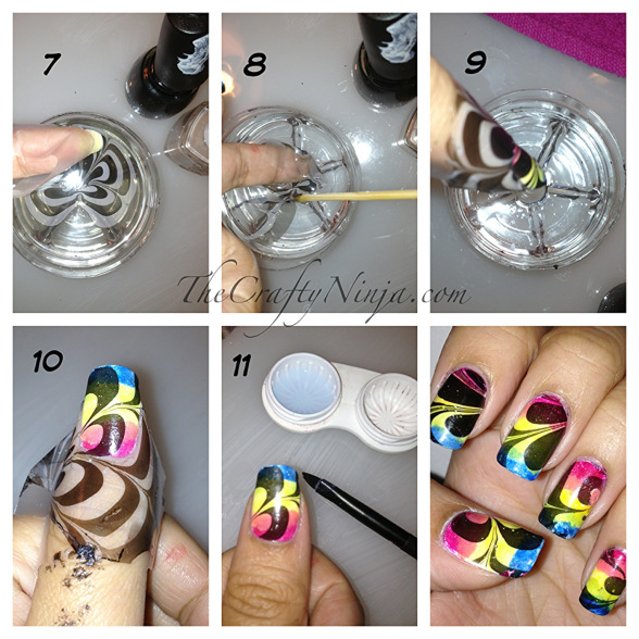 diy-water-marble-nails