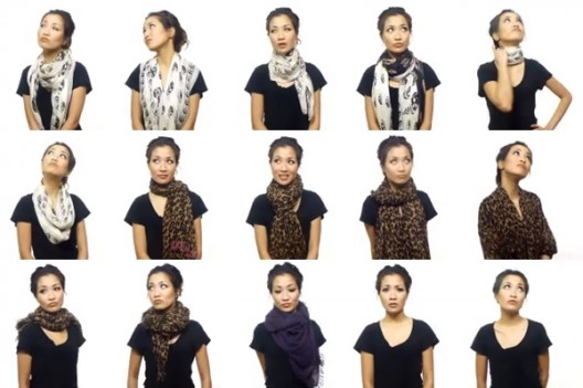 25 Ways To Wear A Scarf In 4.5 Minutes