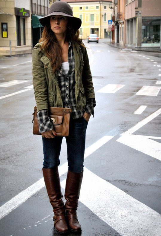 lovely olive jacket outfit