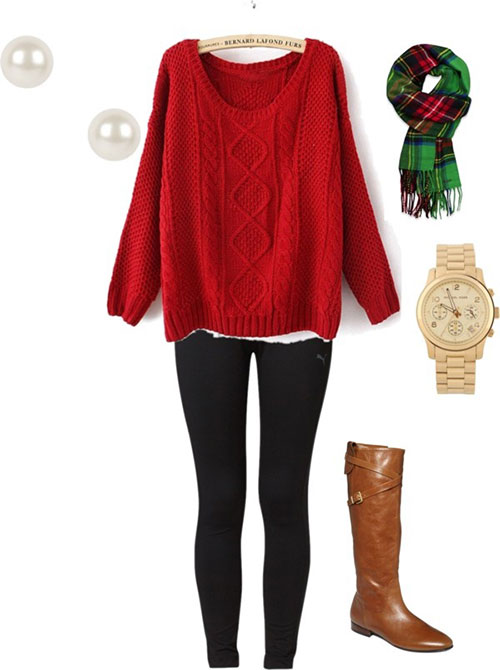 Casual-Christmas-Party-Outfits-2013-2014-Polyvore-Xmas-Costumes-Ideas-15