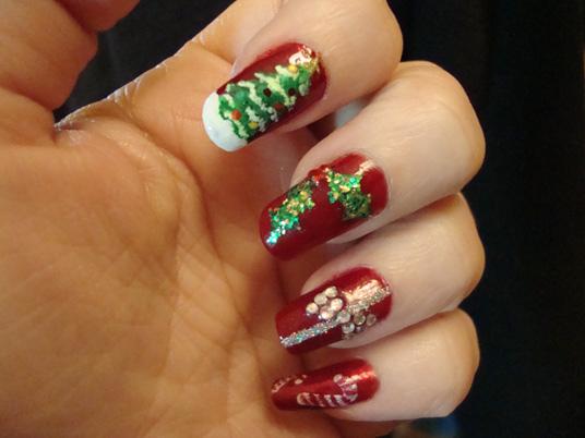 Christmas nails (22)