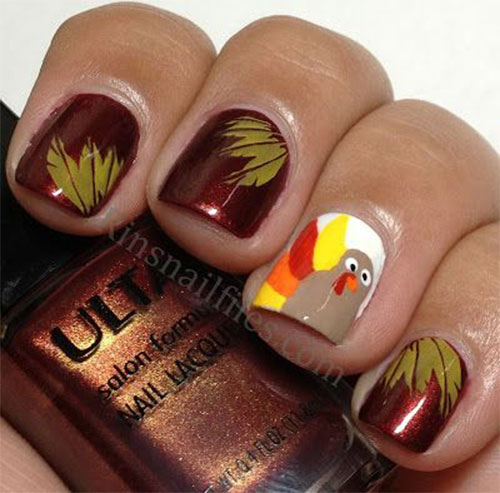 18 thanksgiving nail art ideas creative thanksgiving nail art deigns ideas 2013 2014 prinsesfo Image collections