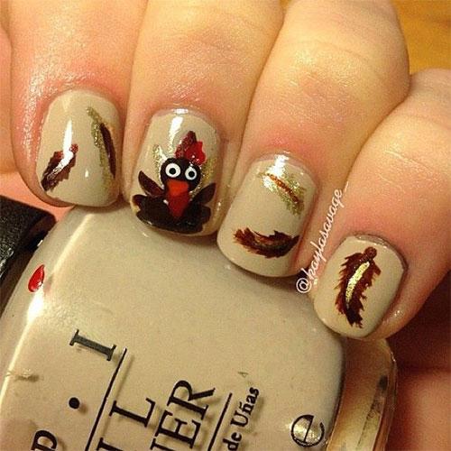 18 Thanksgiving Nail Art Ideas